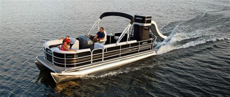 Pontoon Boats With Slides by Research 2015 Weeres Pontoon Boats Legacy Water Slide