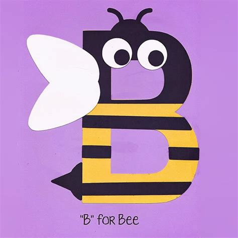 alphabet art template upper  bee  arted
