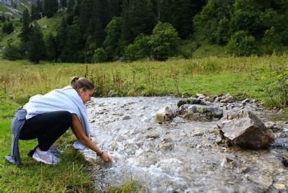 Hiking Swiss Alps Directors Leading Six Daughter