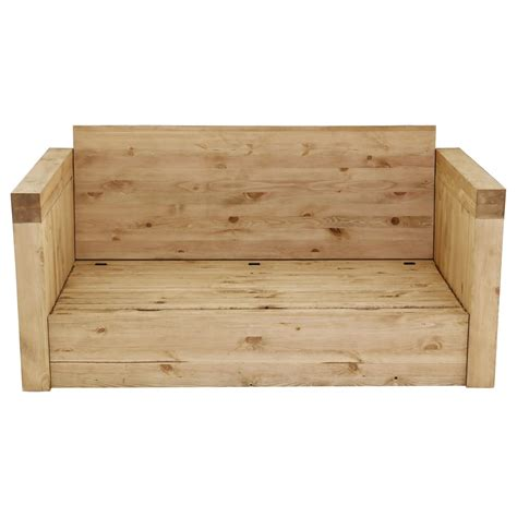 canapé chauffant canapé 2 places microfibre gris et bois massif avec coffre