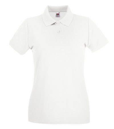 fruit   loom lady fit premium polo shirt mweiss nosiyem