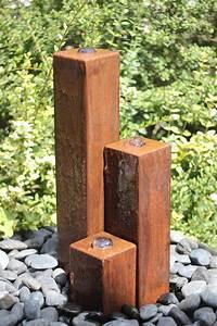 Gartenbrunnen Aus Cortenstahl : wasserspiel set cortenstahl 3er s ulen 60 springbrunnen edelrost design 100400011 ~ Sanjose-hotels-ca.com Haus und Dekorationen