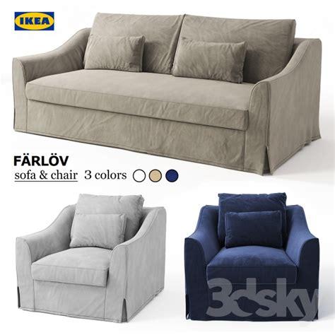 beige sofa and loveseat 3d models sofa sofa chair ikea farlov
