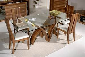 glass top dining tables homesfeed With glass topped dining room tables