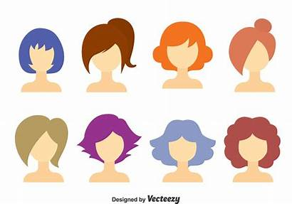 Hair Vector Clipart Woman Messy Hairstyle Hairstyles