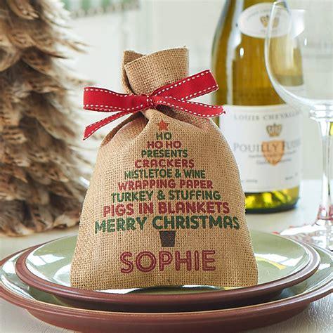 personalised christmas tree mini christmas sack by harrow