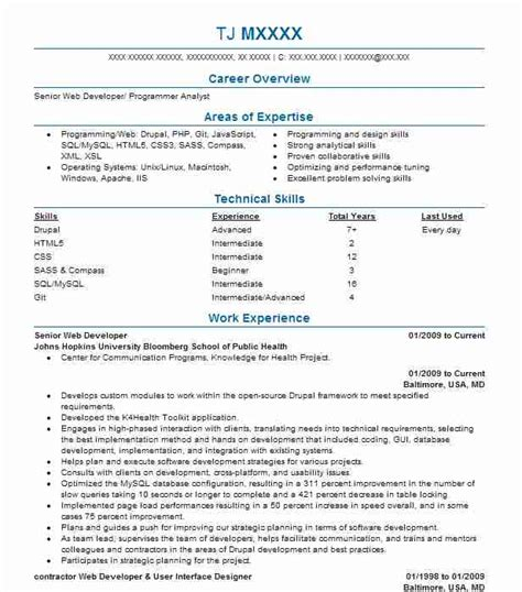 User Experience Summary Resume by Web Design And User Experience Resume Exles Computers