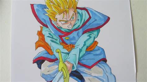 draw gohan ssj  kai outfit wielding  sword youtube