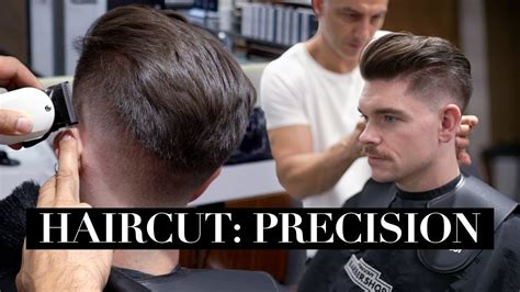 mens haircut precision fade undercut step  step