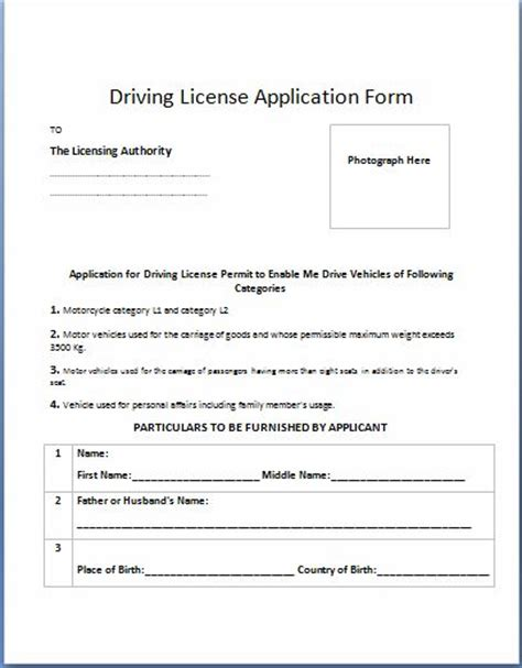 Drive Forms Templates by Fitness Certificate For Driving Licence