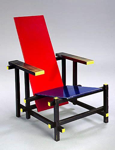 gerrit rietveld chaise et bleue 1918 design