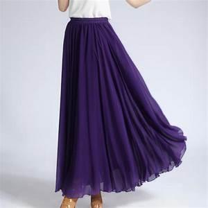 Long Purple Maxi Skirt | Jill Dress
