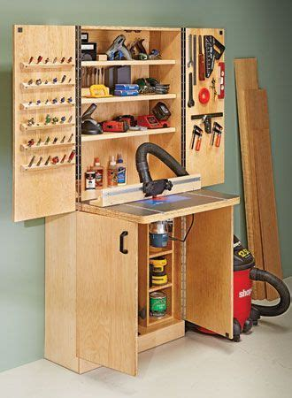 router table wall cabinet woodsmith plans muebles