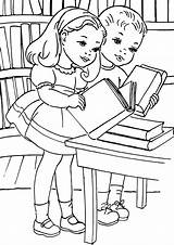 Library Coloring Pages Library8 Coloringway sketch template