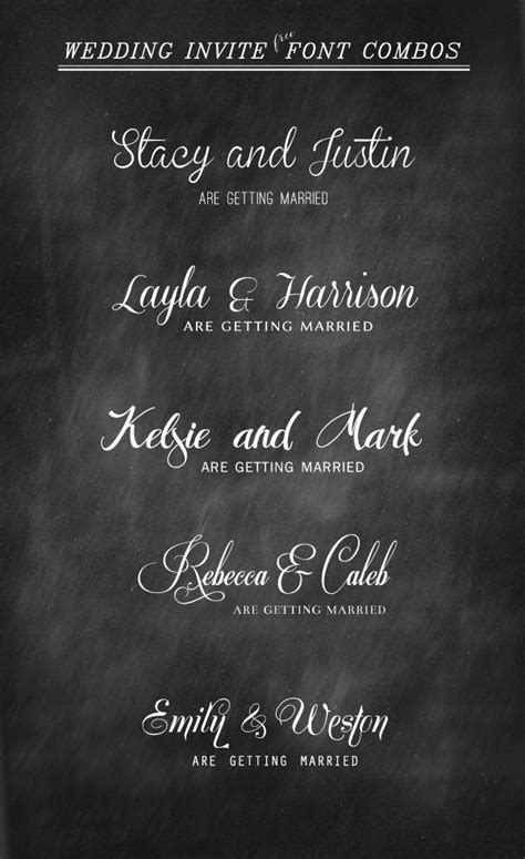 wedding invitation font and pairing guide from elegance and enchantment great combinations of