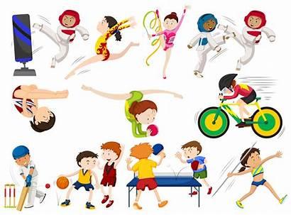 Sports Types Different Vector Premium Taekwondo Clipart