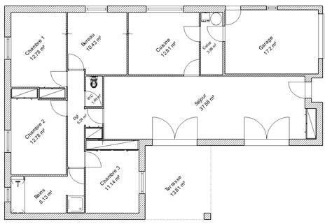 plan maison moderne 5 chambres plan de maison 5 chambres