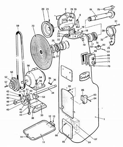 Graduate Parts Lathe Spares Drawing Machinery Wood