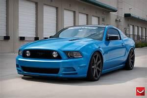 Customized Blue Mustang Sporting Matte Black Rims — CARiD.com Gallery