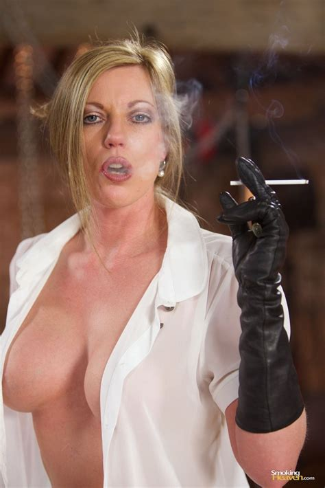 Holly Kiss Smoking A Cigarette In Fuck Me Boots 1 Of 1
