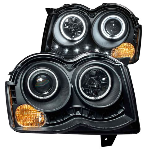 anzo usa projector halo headlights with clear lense