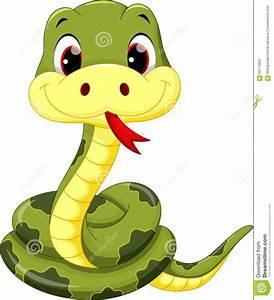Cute baby snake cartoon stock illustration. Illustration ...