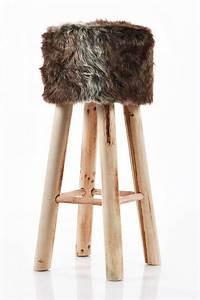 Hocker Mit Fell : barhocker barstuhl stuhl fellhocker polsterhocker vintage 70 cm braun u101 ebay ~ Markanthonyermac.com Haus und Dekorationen