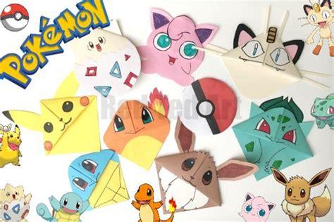 pokemon bookmark corner designs pokemon  diy red