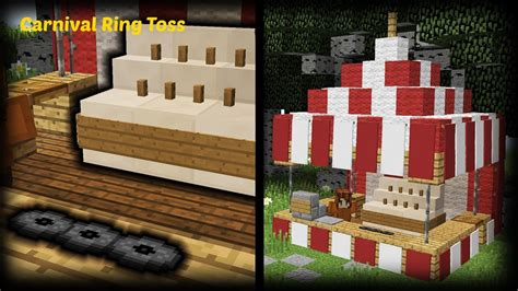 minecraft how to make a carnival ring toss