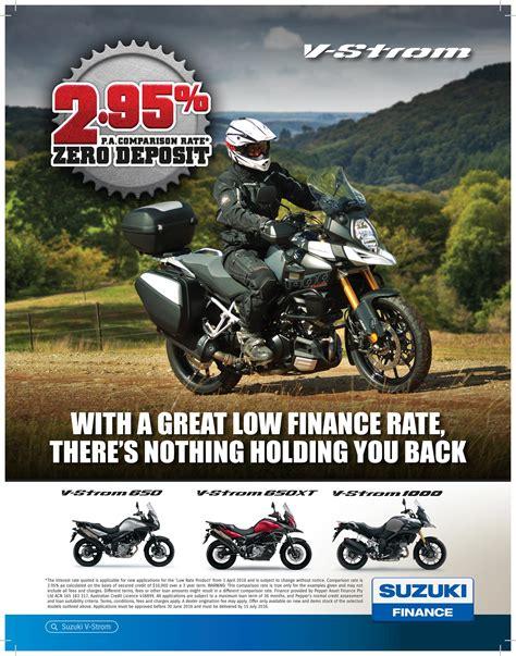 Suzuki Financing by Suzuki Finance Offers Suzuki Road Bikes Mcnews Au