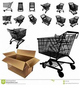 Shopping Cart Silhouette Set Royalty Free Stock Photos ...