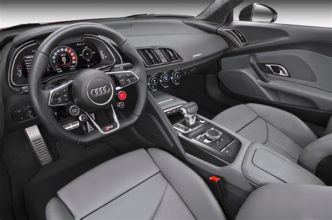 audi r8 interior 2017 audi r8 drive review photo gallery motor trend