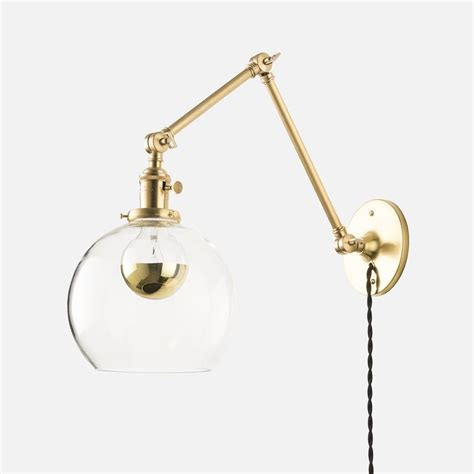 kenroy swing arm wall l sconces princeton senior plug in sconce brass wall sconce