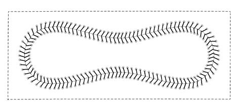 baseball template patent usd584050 wallet with baseball stitching patents