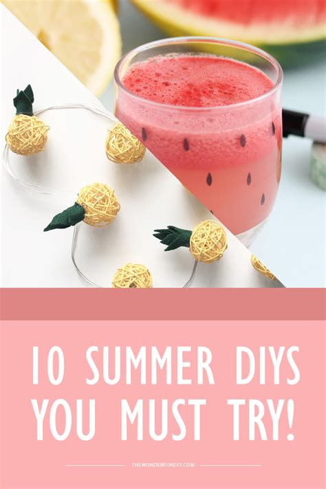 diy lazy 10 summer diy projects you must try forest