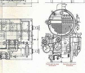 Locomotives Vintage Technical Drawing Engineering Compound Mallet Cockerill