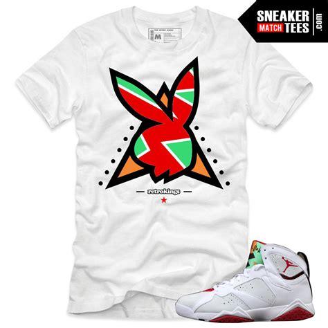 Jordan 7 Hare shirts to match u0026quot;PlayBoy 7su0026quot; White Sneaker Tees shirt