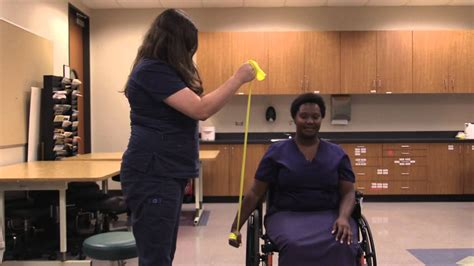 Theraband Exercises In The Wheelchair