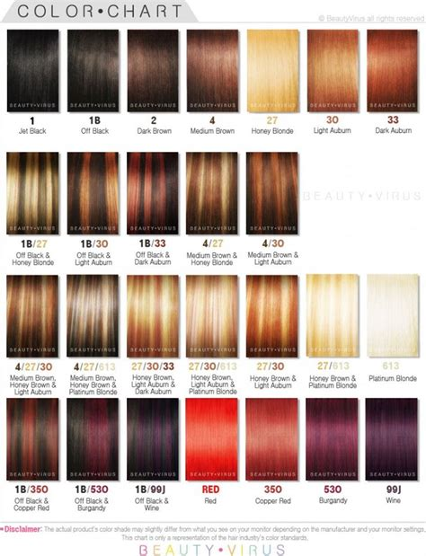 30 Shades Of by Wonderful Ion Hair Color Chart With Image Of Hair