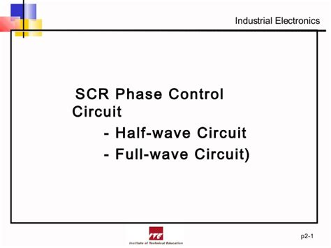 Silicon Control Rectifier Phase
