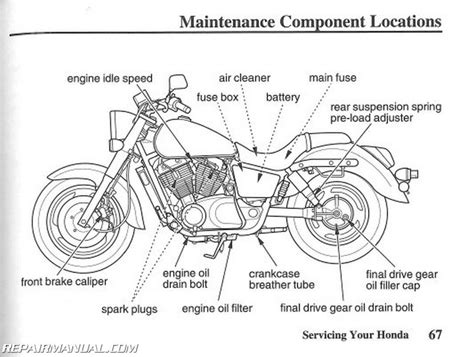 Honda Vtc Shadow Spirit Motorcycle Owners Manual