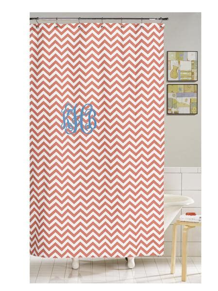 coral chevron shower curtain american made home
