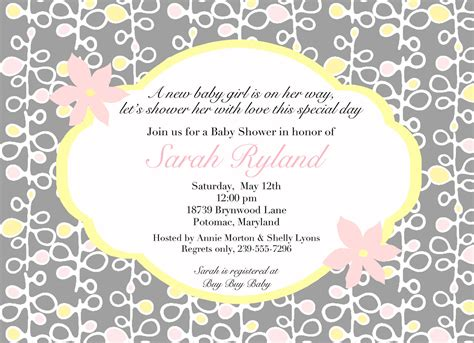Baby Shower Invite Ideas - free template baby shower invitation wordings