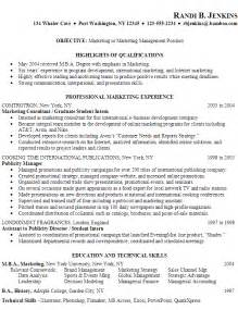 resume for marketing major resume for marketing or marketing management susan ireland resumes