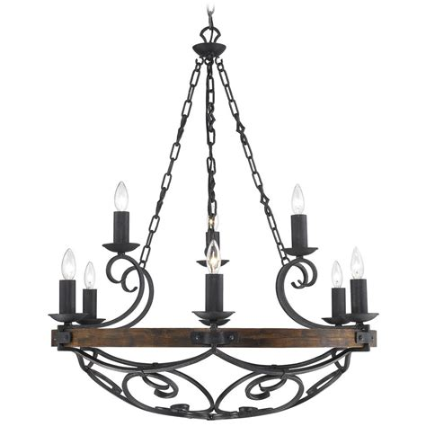 golden lighting madera  light chandelier  black iron