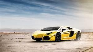 Wallpaper Lamborghini Aventador LP700-4 gold color