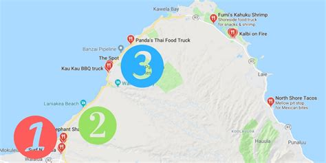 places  eat  oahu food trucks map  travel dads