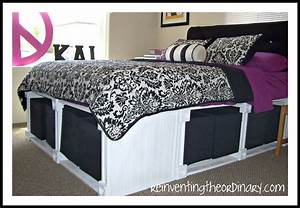 Diy Queen Bed Frame With Storage Storage Bed. How To Build ...