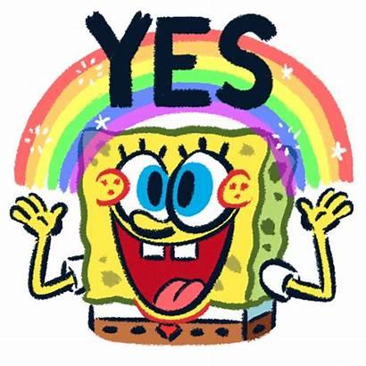 Spongebob Sticker Squarepants Animated Stickers Animation Cartoon