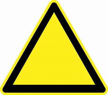 Blank Warning Sign Signs Construction Hazard Vector